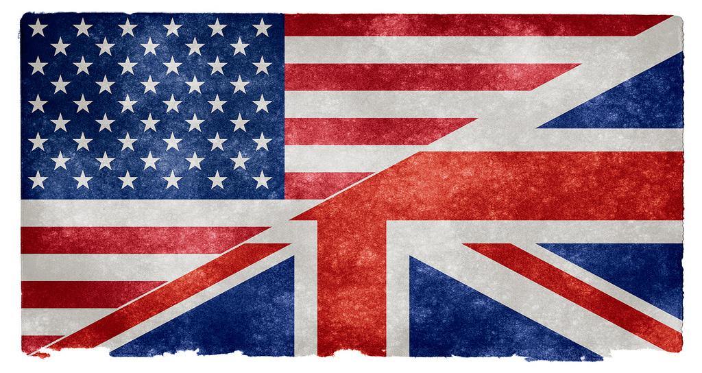 flaga wielkiej brytanii i usa